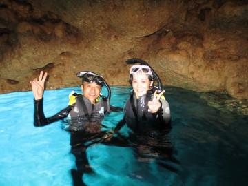 青の洞窟シュノーケル&美ら海体験ダイビングSET×2名様