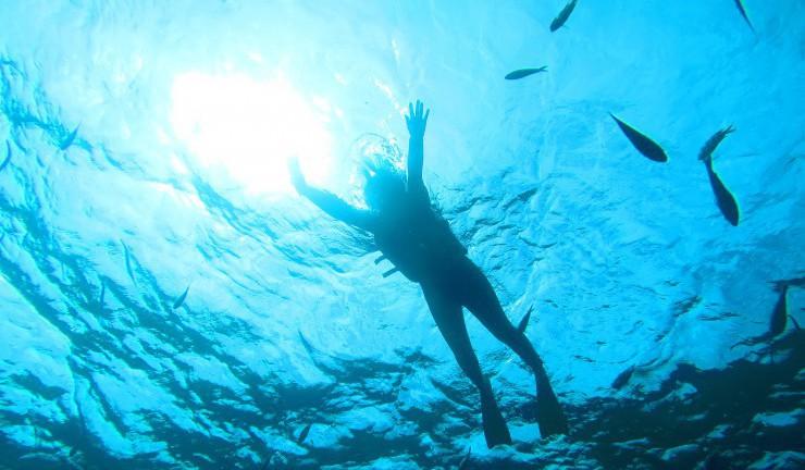 沖縄に来たらやっぱり海!