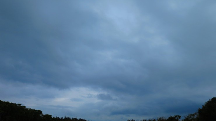 真冬のどんよりとした空模様