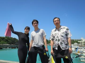 青の洞窟体験ダイビング3名様
