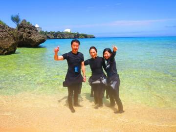 無人島シーカヤック&サンゴ礁シュノーケル×3名様