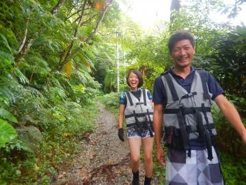 亜熱帯ジャングルリバートレッキング×2名様