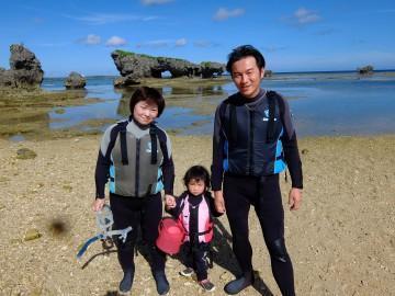 珊瑚礁リーフトレッキング&シュノーケル×3名様