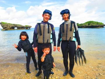 珊瑚礁リーフトレッキング&シュノーケル×4名様