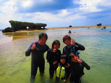 珊瑚礁リーフトレッキング&シュノーケル×5名様