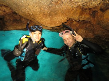 青の洞窟シュノーケル×美ら海体験ダイビング×2名様