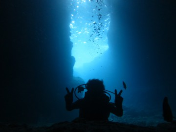 青の洞窟体験ダイビング×1名様
