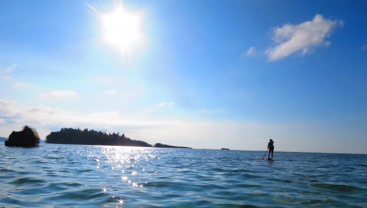 大海原で優雅にSUPクルージング