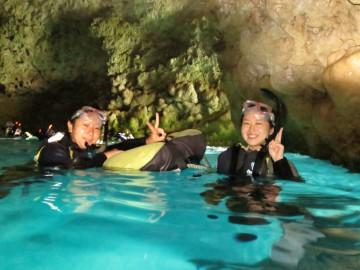 青の洞窟シュノーケル&美ら海体験ダイビング×2名様
