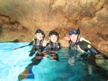 青の洞窟シュノーケル×3名様