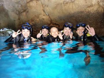 青の洞窟体験ダイビング×5名様