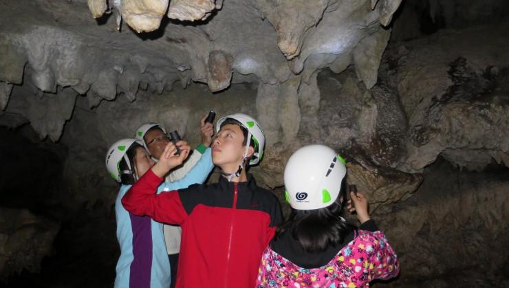 鍾乳洞の大冒険