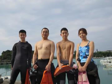 青の洞窟体験ダイビング4名様