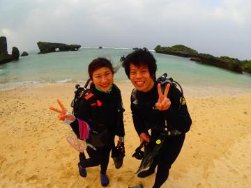 ビーチ体験ダイビング×2様