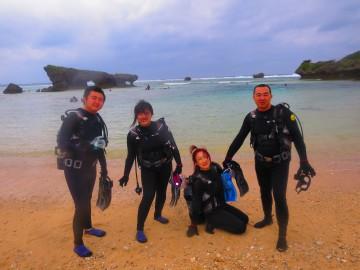 ビーチ体験ダイビング×4名様