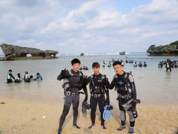 ビーチ体験ダイビング×3名様