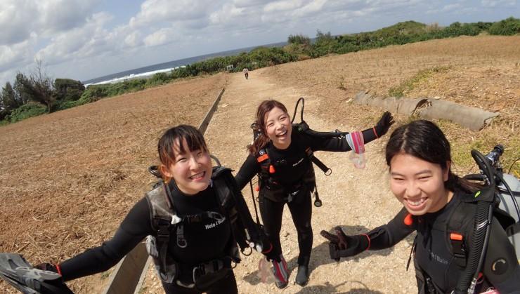 沖縄の海で初ダイビング♪