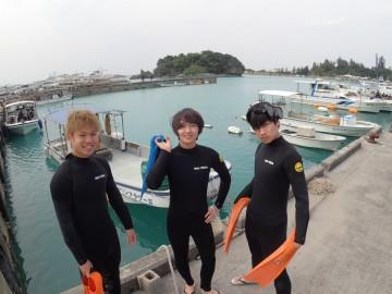 ボート体験ダイビング×3名様