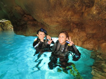 青の洞窟シュノーケル×2