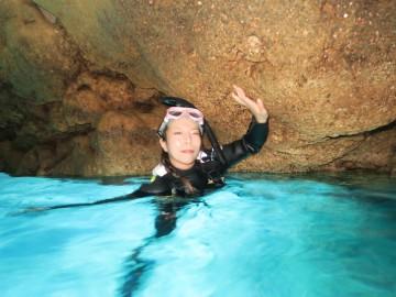 青の洞窟シュノーケル&美ら海体験ダイビング×1名様