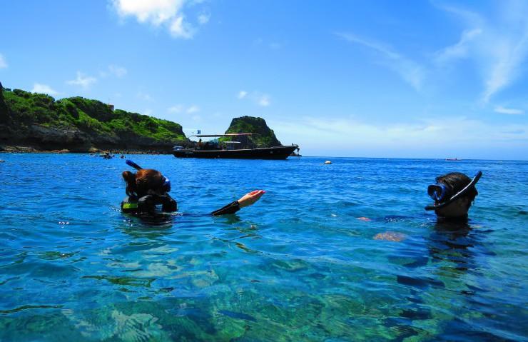 青空と穏やか~~な海