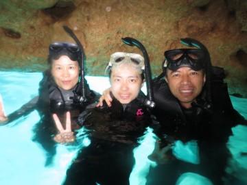 青の洞窟SN&美ら海体験SET×3名様