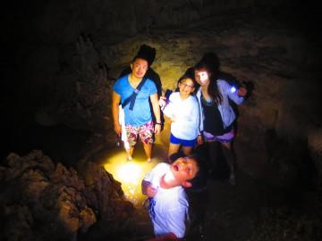 鍾乳洞秘境パワースポットの探検×4名様