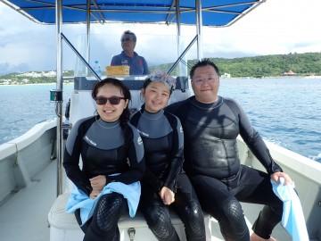 青の洞窟シュノーケル&美ら海体験ダイビングSET×3名様