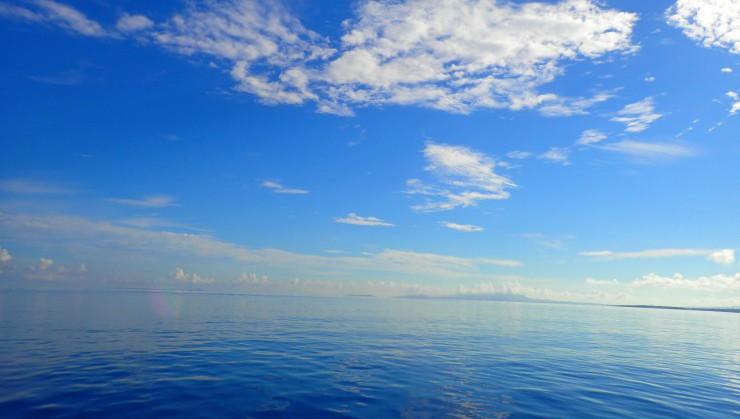 早朝の静かな水面。