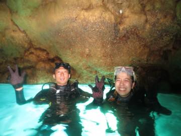 早朝青の洞窟体験ダイビング×2名様