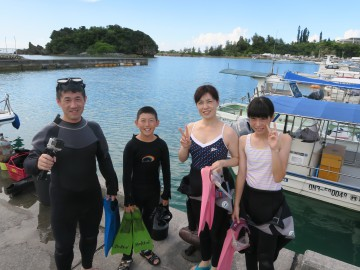 美ら海体験ダイビング×4名様