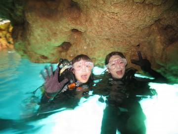早朝便青の洞窟体験ダイビング×2名様