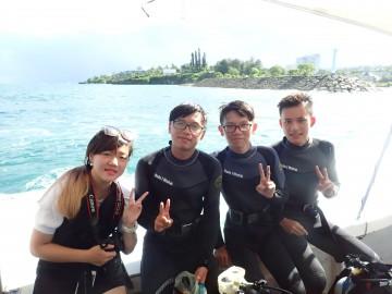青の洞窟体験ダイビング×3名様&乗船1名様
